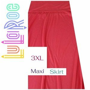 LuLaRoe | 3XL Skirt Maxi Cotton Solid Coral NEW